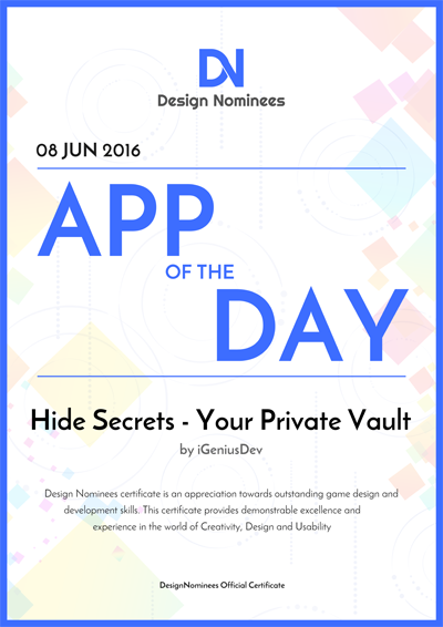 App of The Day Certificate