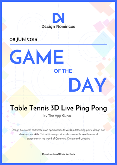 Game of The Day Certificate