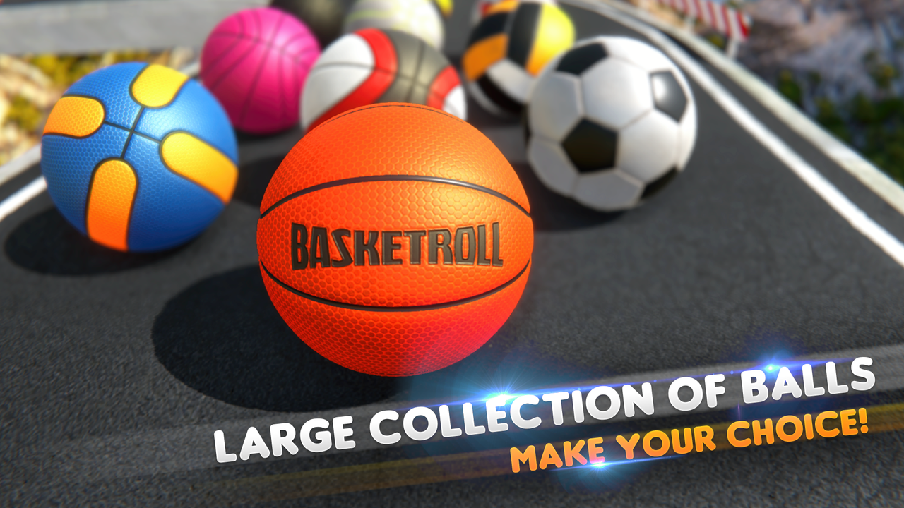 BasketRoll: Rolling Ball Game