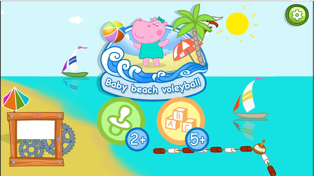 Baby beach Volleyball
