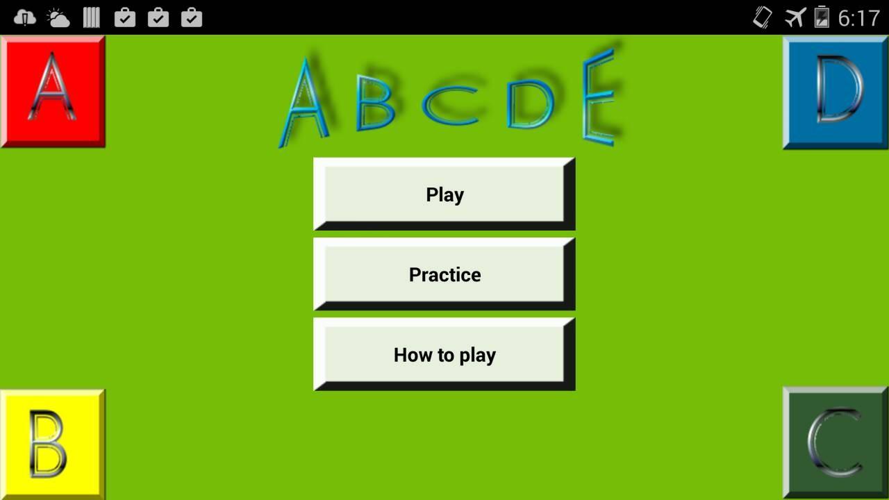 Same Game ABCD Race