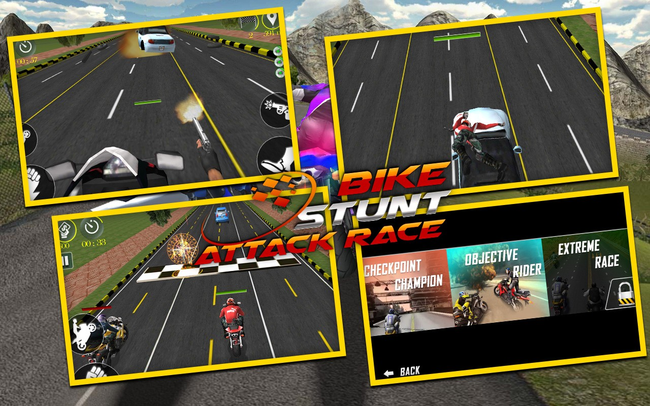 Bike Stunt Attack Race 3D