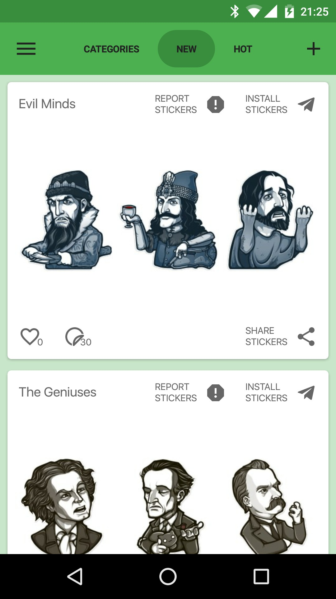 Catalog Stickers for Telegram