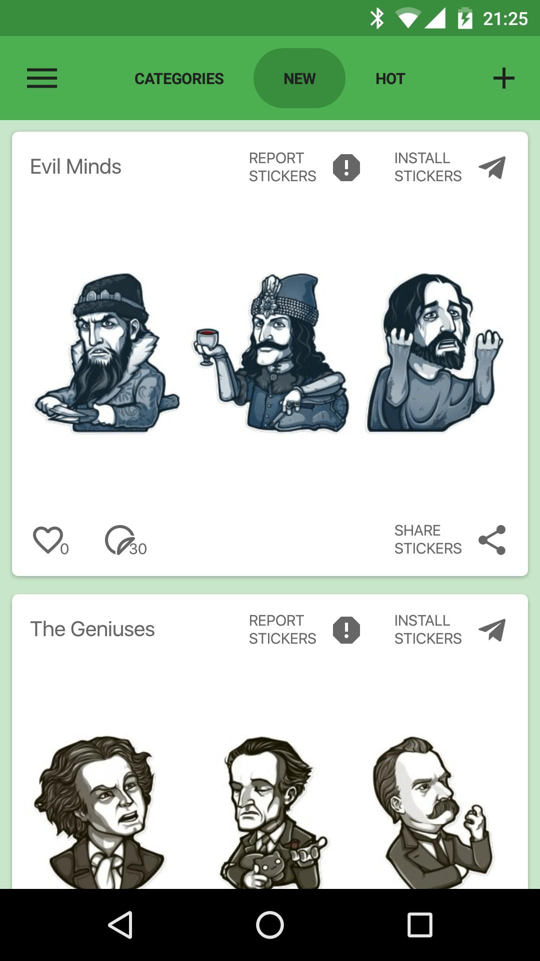 Catalog Stickers for Telegram