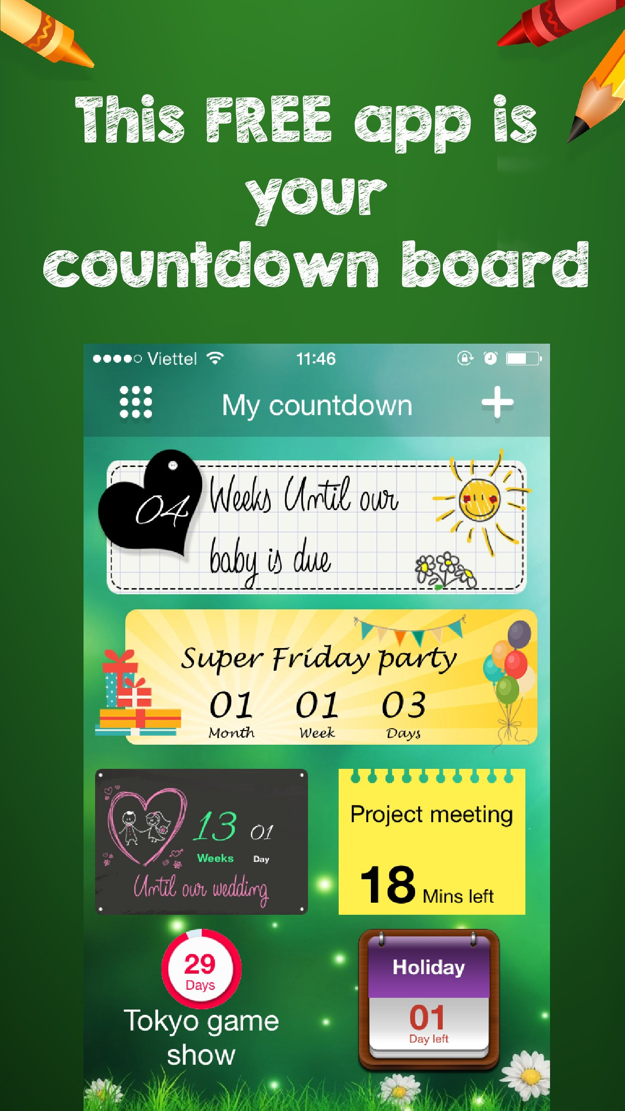 Enjoy Countdown Widget – Unique styles reminder