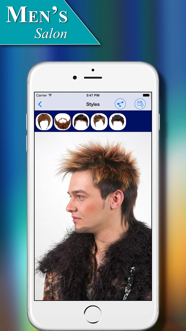Men\'s Salon Hairstyles App for iOS
