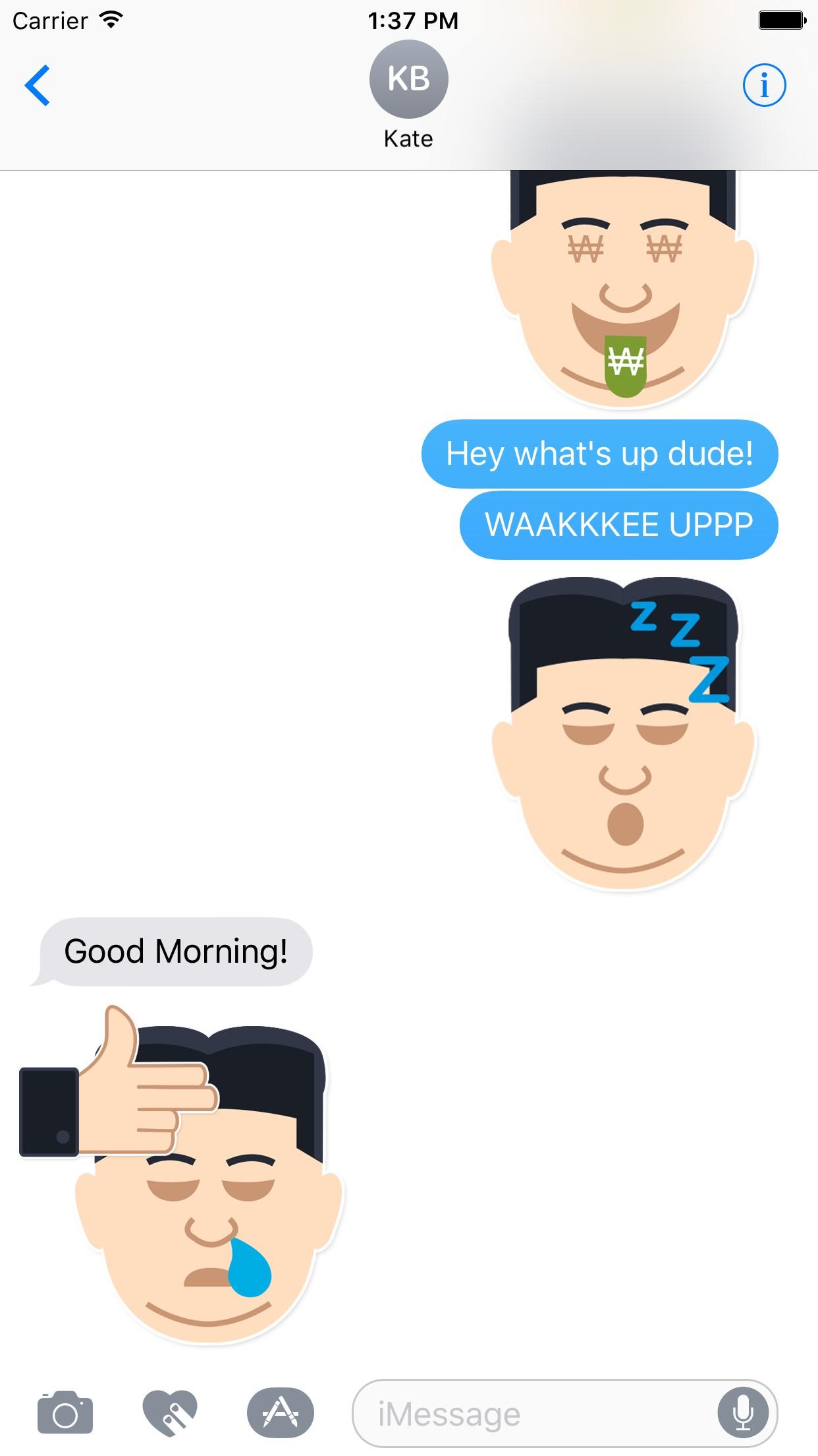 KimSays - Express with Emojis & Stickers