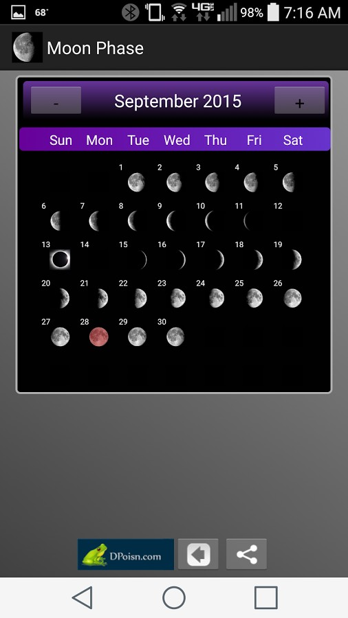 Moon Phase Clock for Android and iPhone