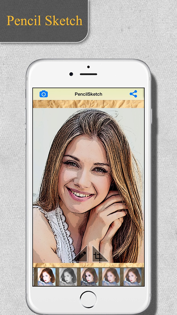 Pencil sketch maker ios