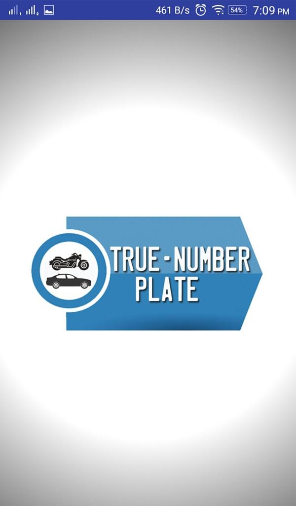 True Number Plate
