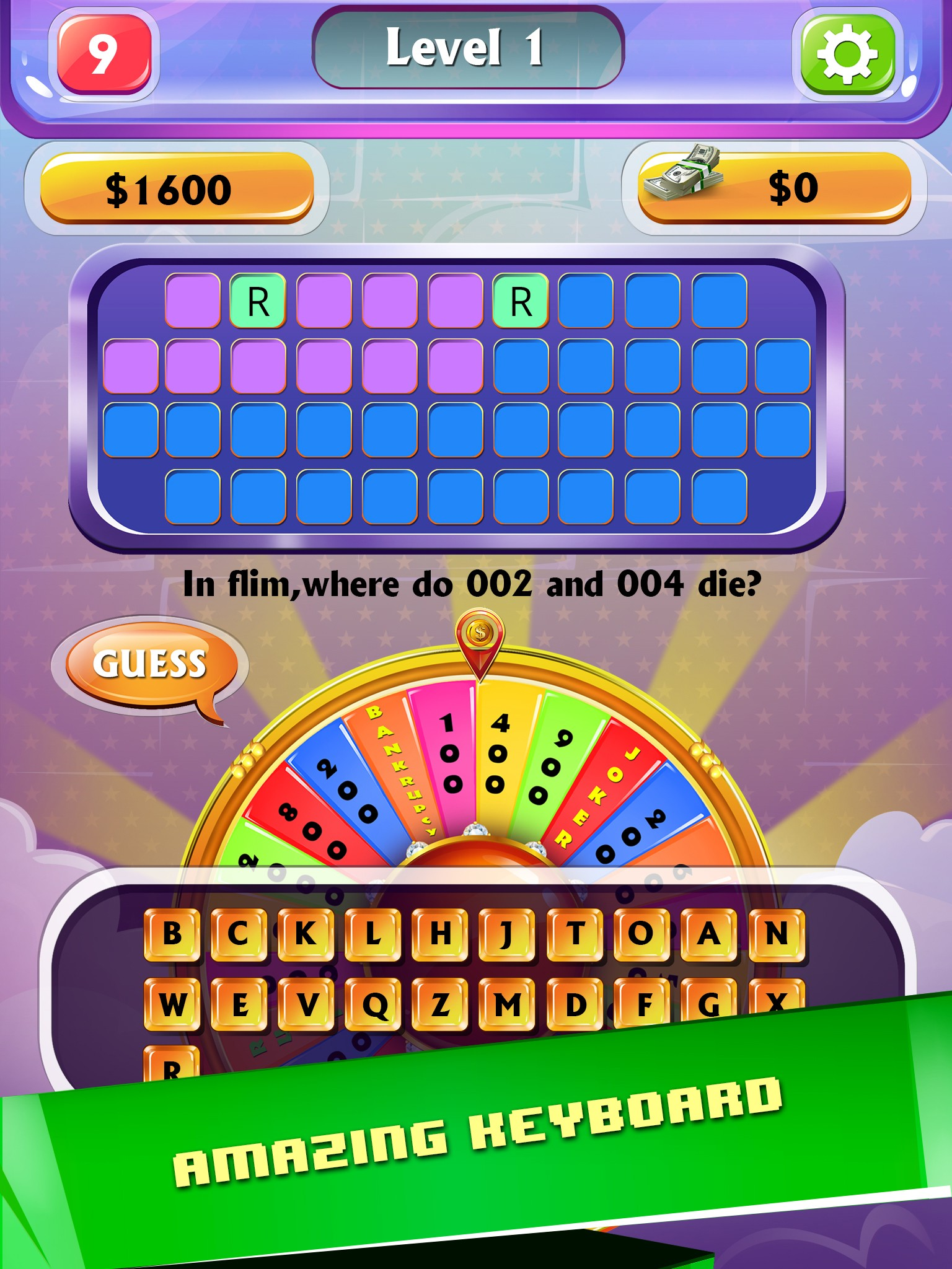 Wheel of Word - Fortune Game