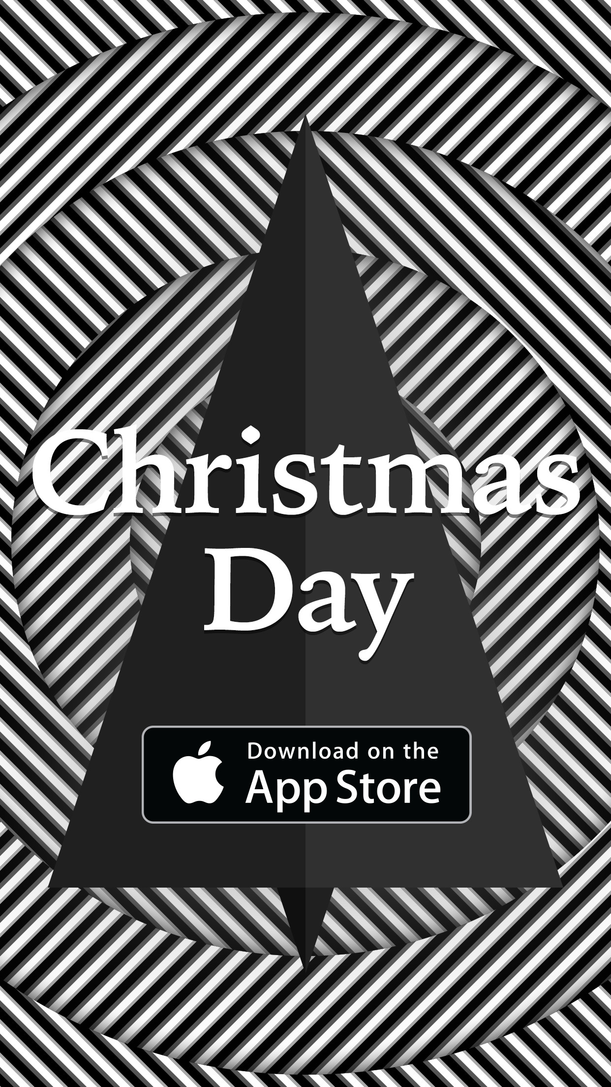 Christmas Day ▲ monochrome