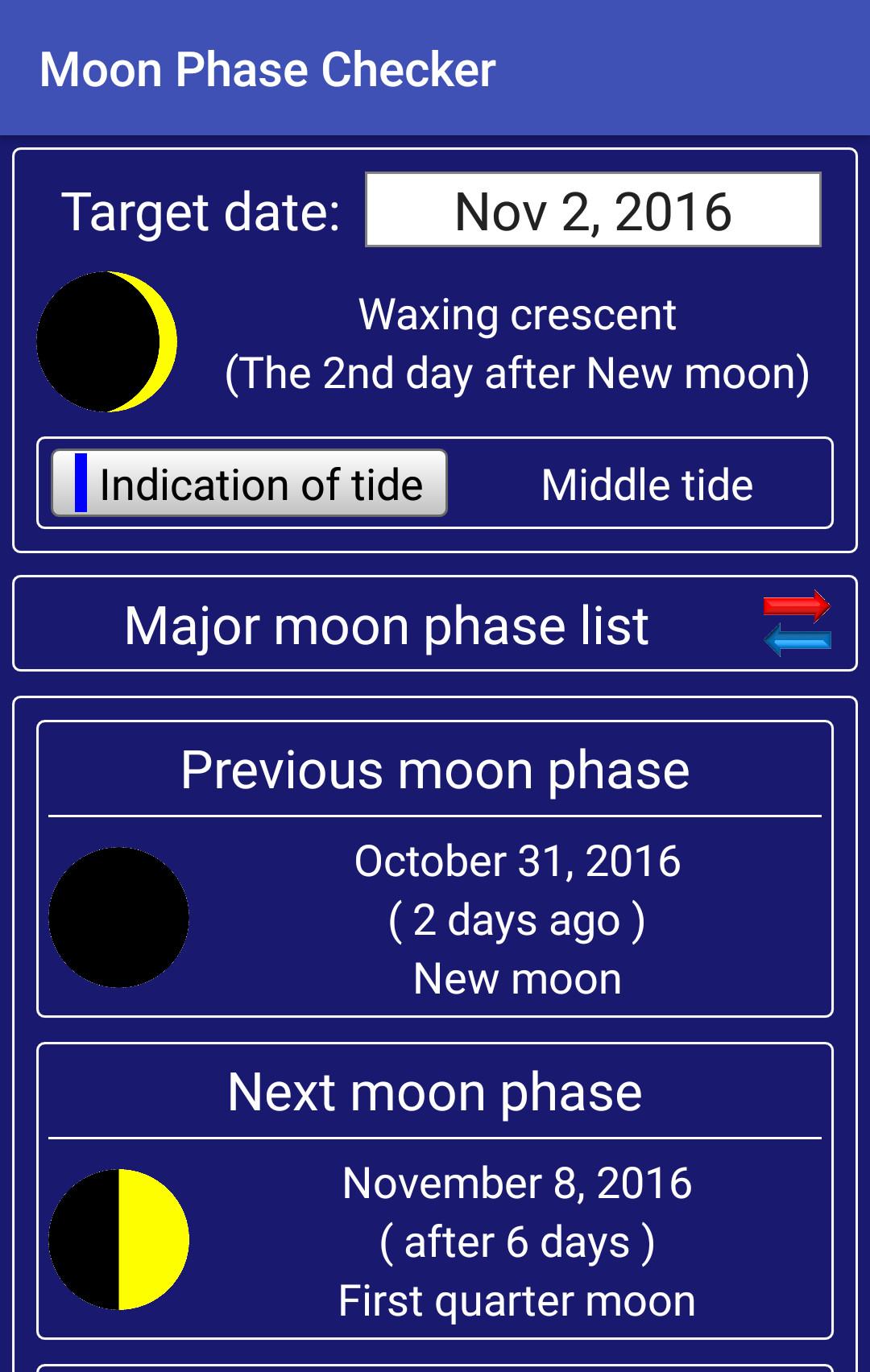 Moon Phase Checker