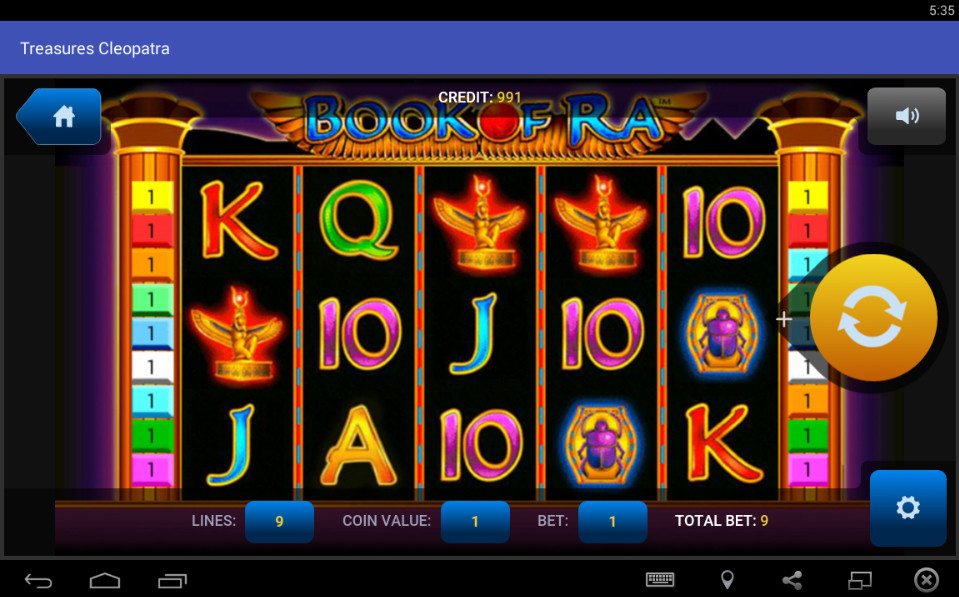 Slot machines - casino Cleopatra
