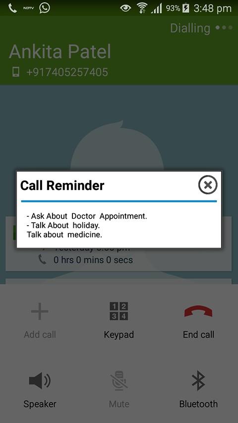 Call Reminder