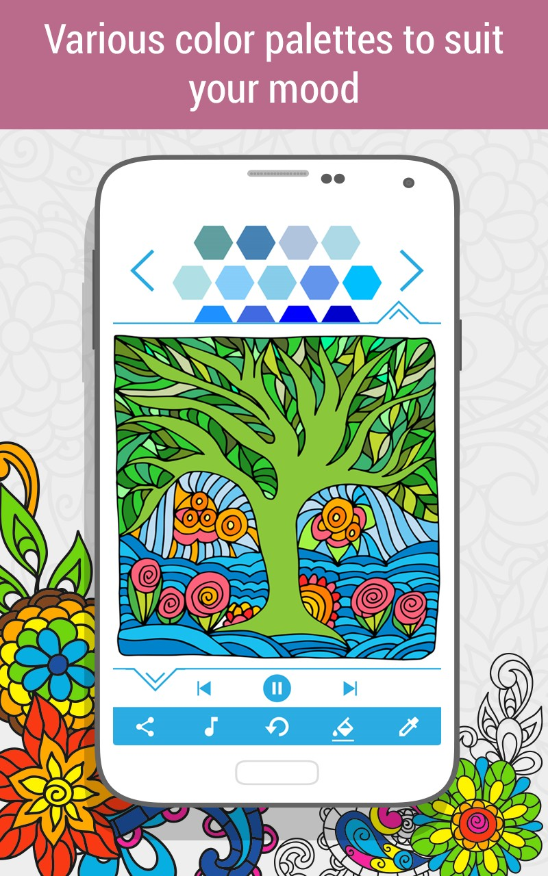 Coloring Book for Adults #HoliColoring