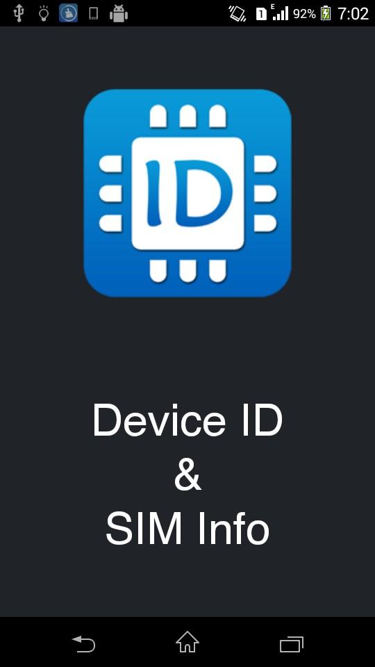 Device ID & SIM Info