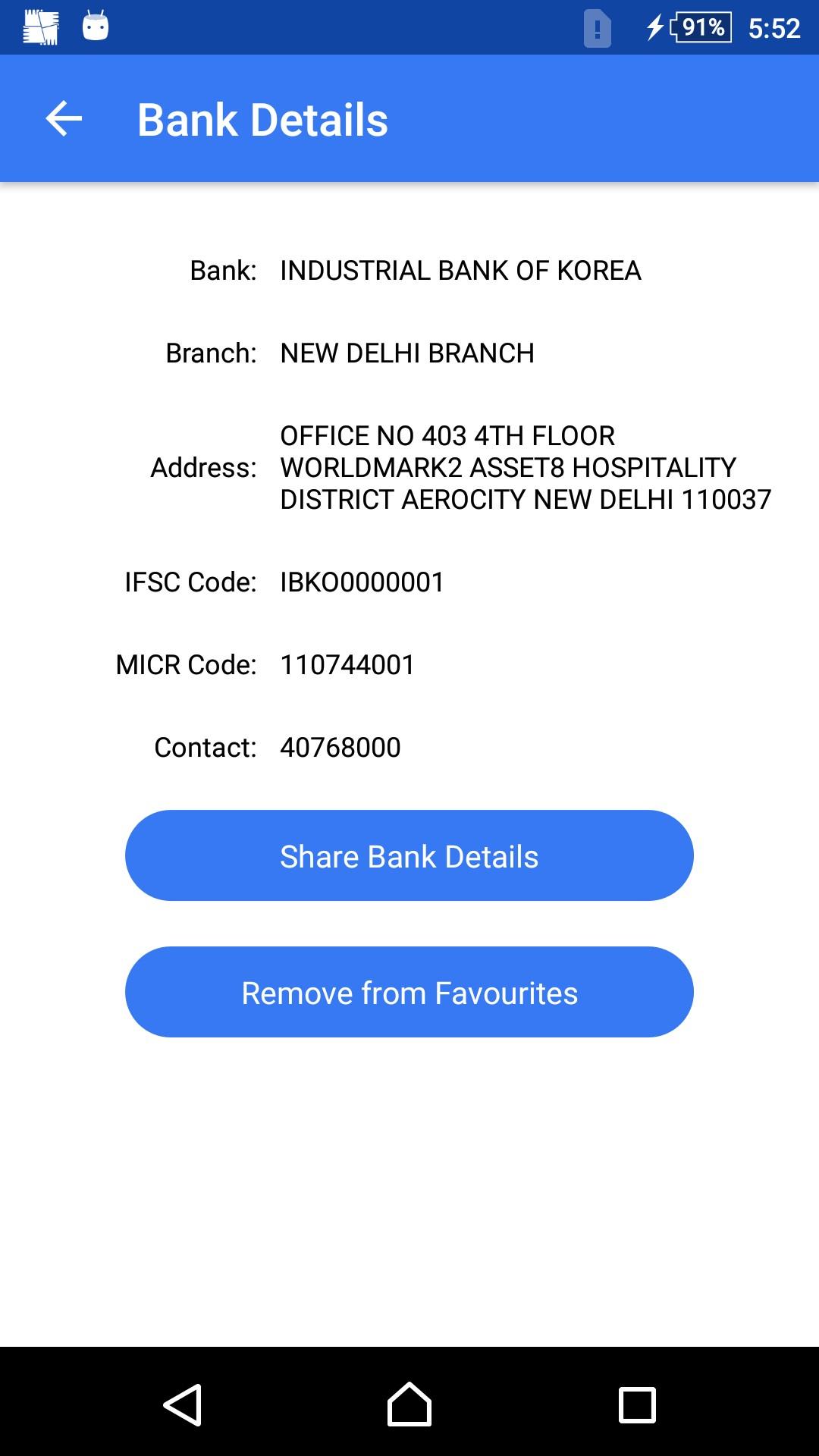 Indian Banks Info (IFSC, MICR)