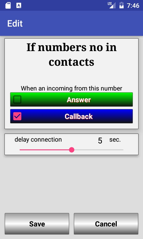 Smart Answer & Callback