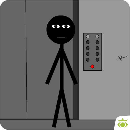 Stickman escape lift