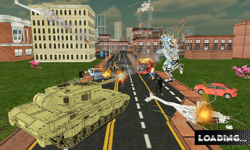 Transformer Robot Car Battle