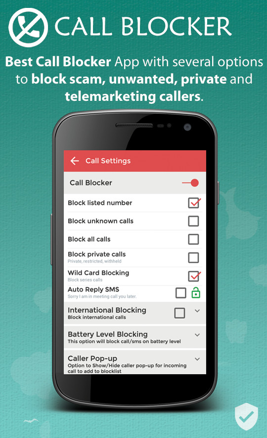 VBlocker: Call and Sms Blocker