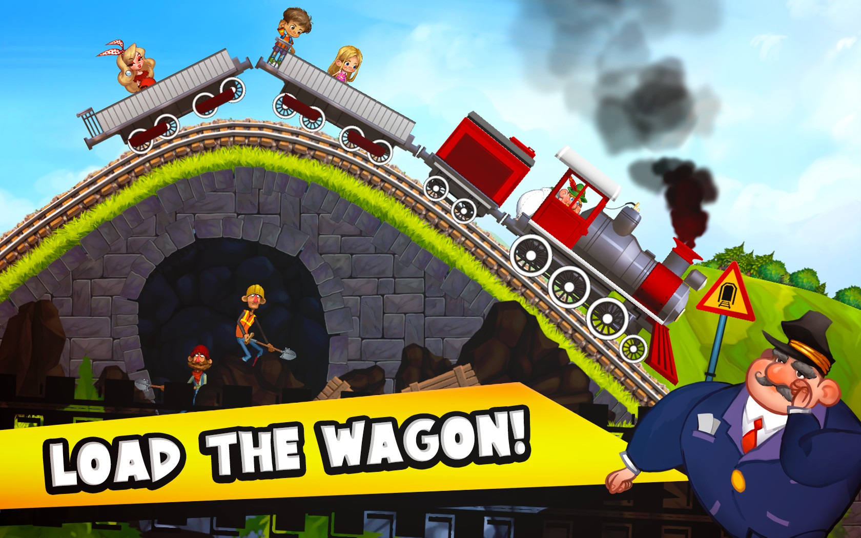 Fun Kids Train Racing