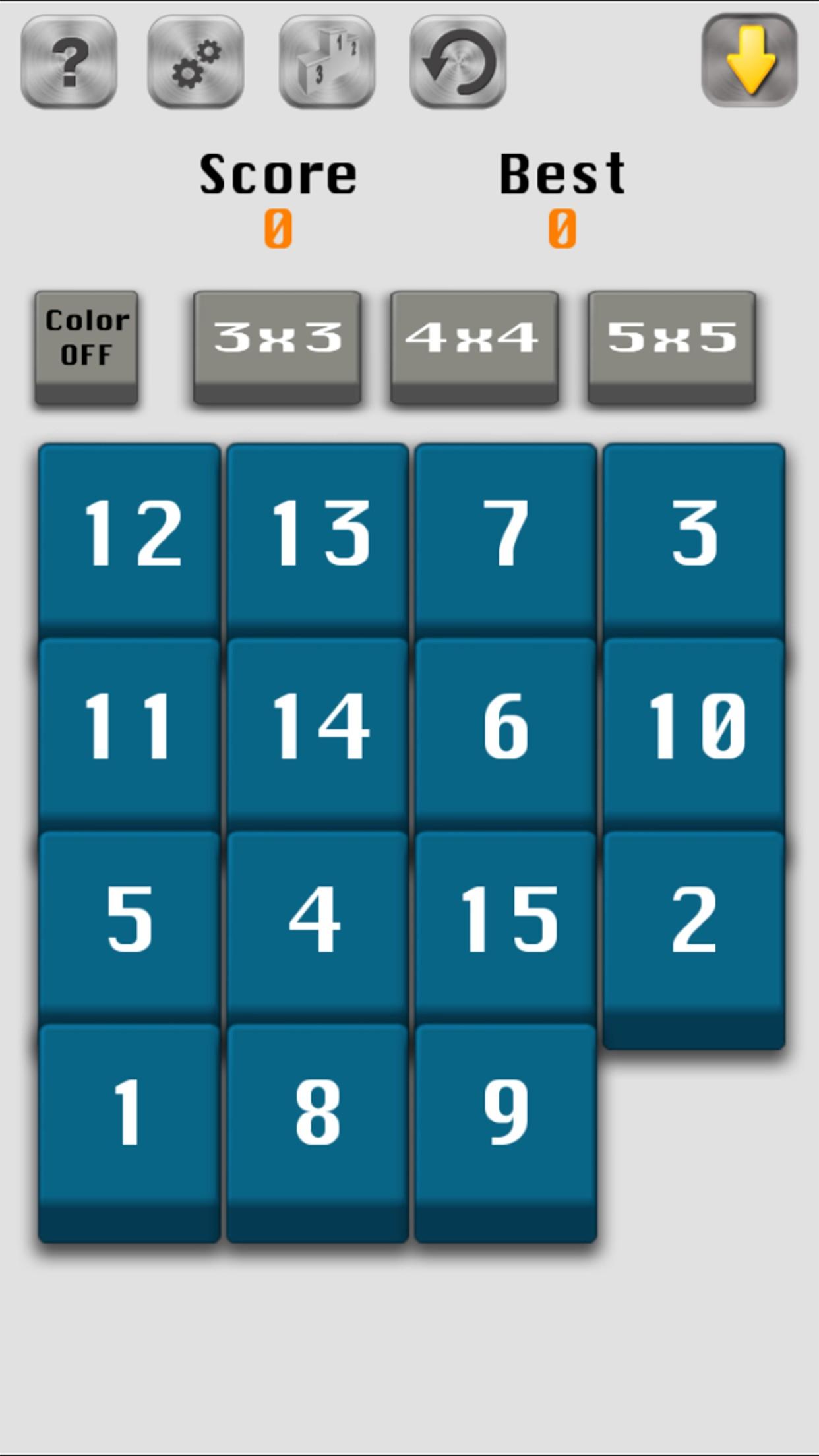 Number Slide (15 Fifteen puzzle)