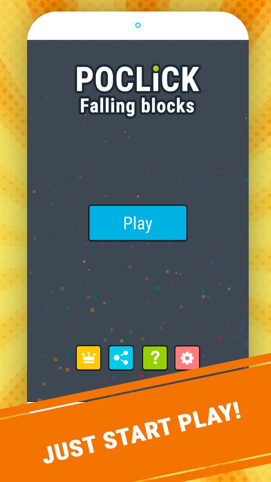 Poclick: Falling Blocks