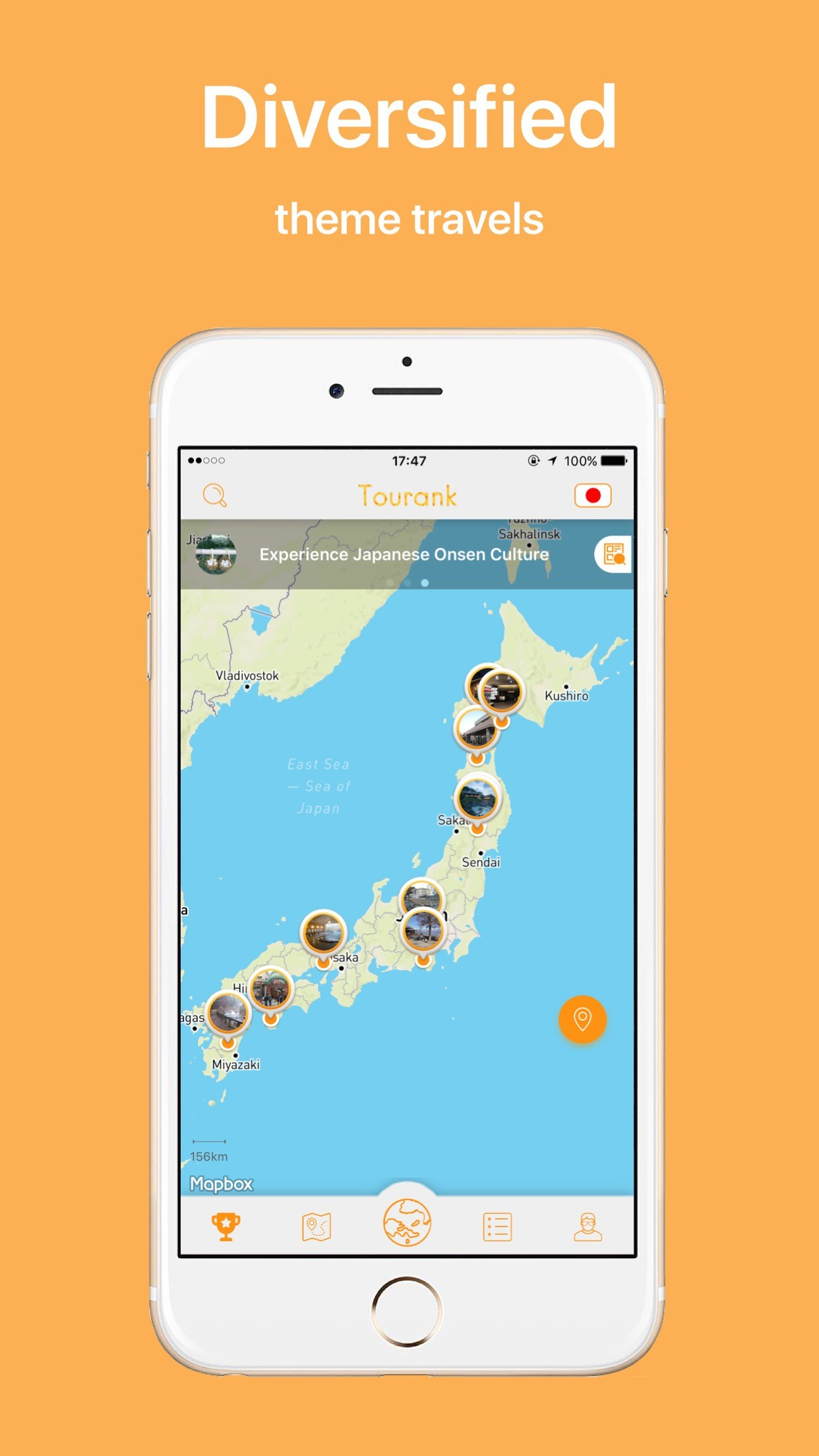 Tourank Smart Mobile Travel Guide on Japan