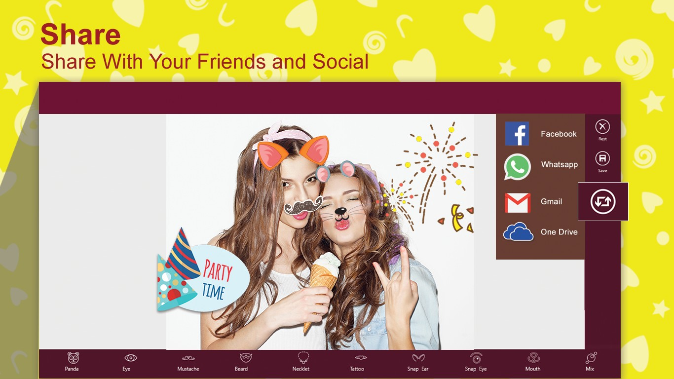 Snap Face for DIY Snap Photo and Chat