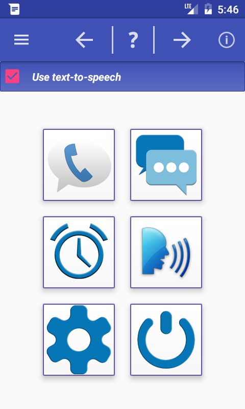 Speaks info of call and sms