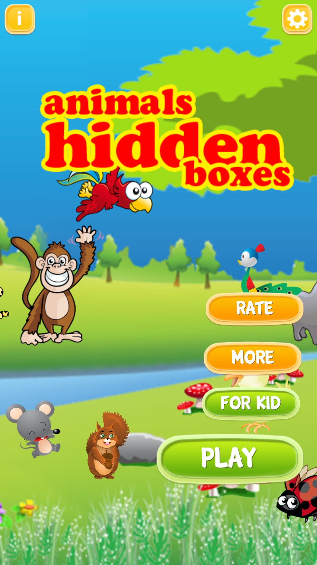 English Animal Hidden Boxes
