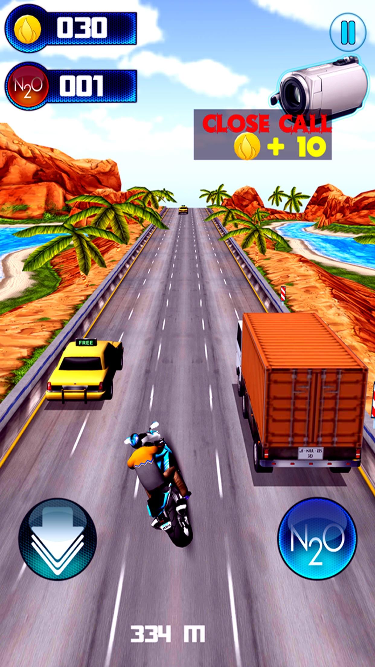 Highway Traffic Moto Rider
