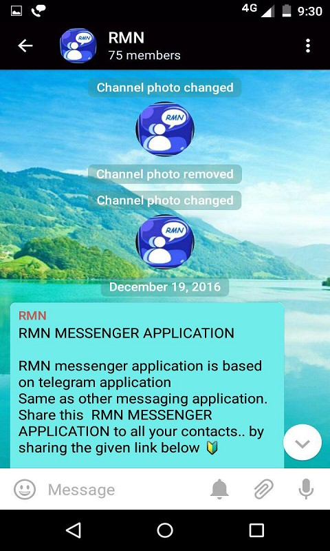 RMN messenger Application