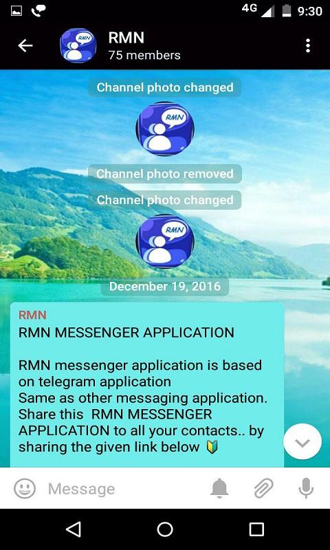RMN messenger Application