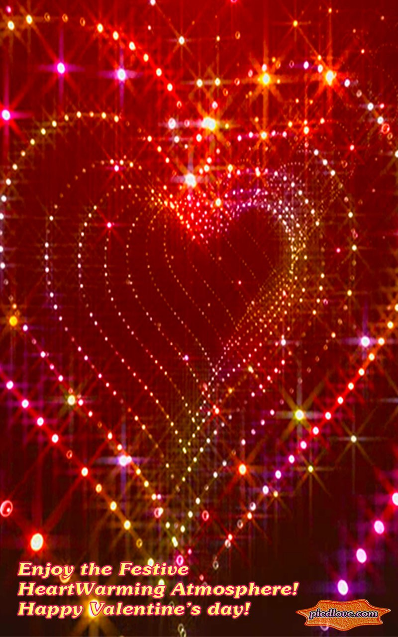 Tunnel Glitter Spark Heart 3D