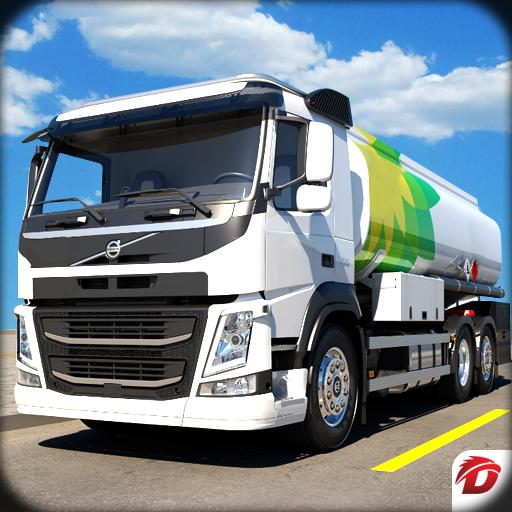 Driving Hill Oil Tanker Truck