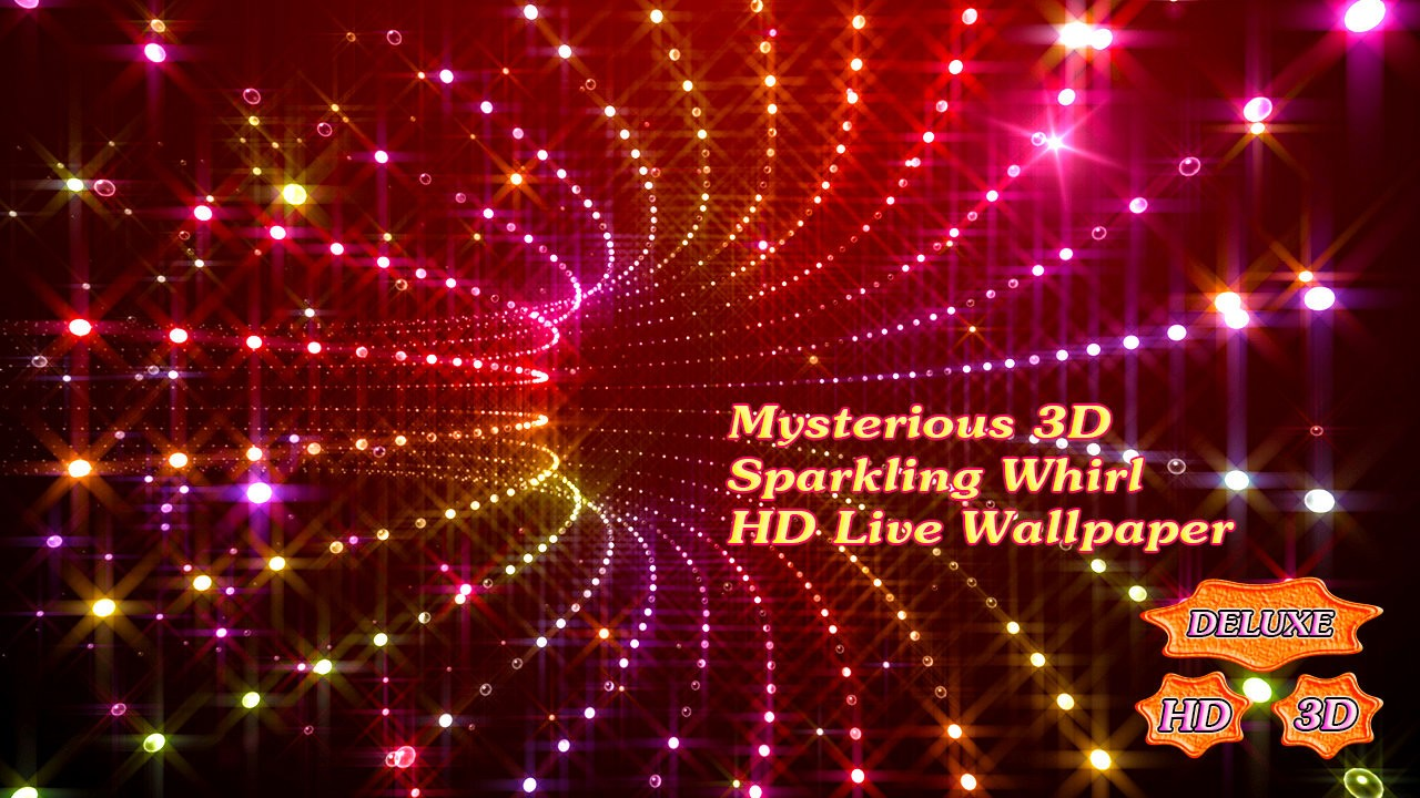 Mysterious Sparkling Whirl 3D