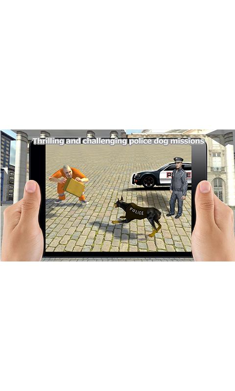 Crime Chasing Police Dog