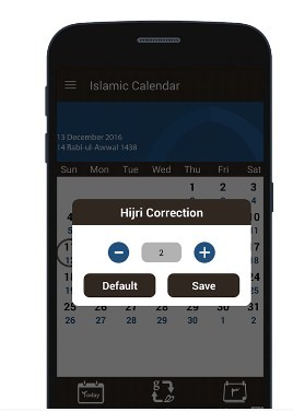 Islamic Hijri Calendar 2017