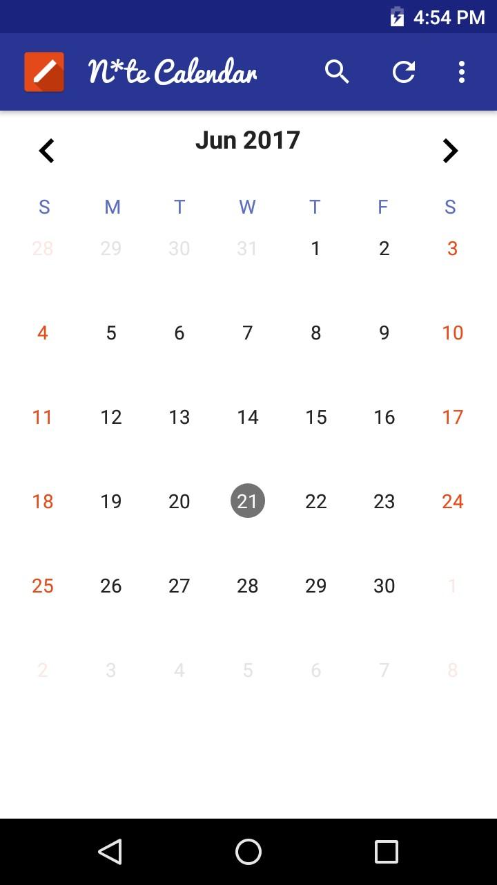 Note Calendar