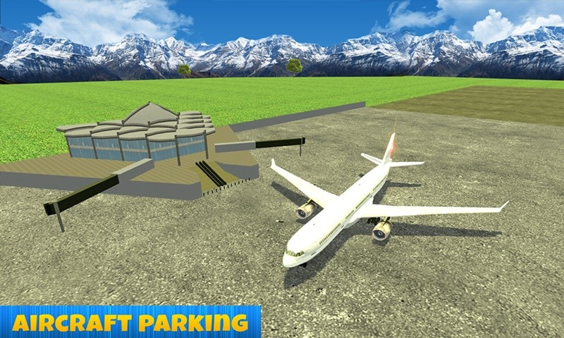 Super Jumbo Jet Plane Parking