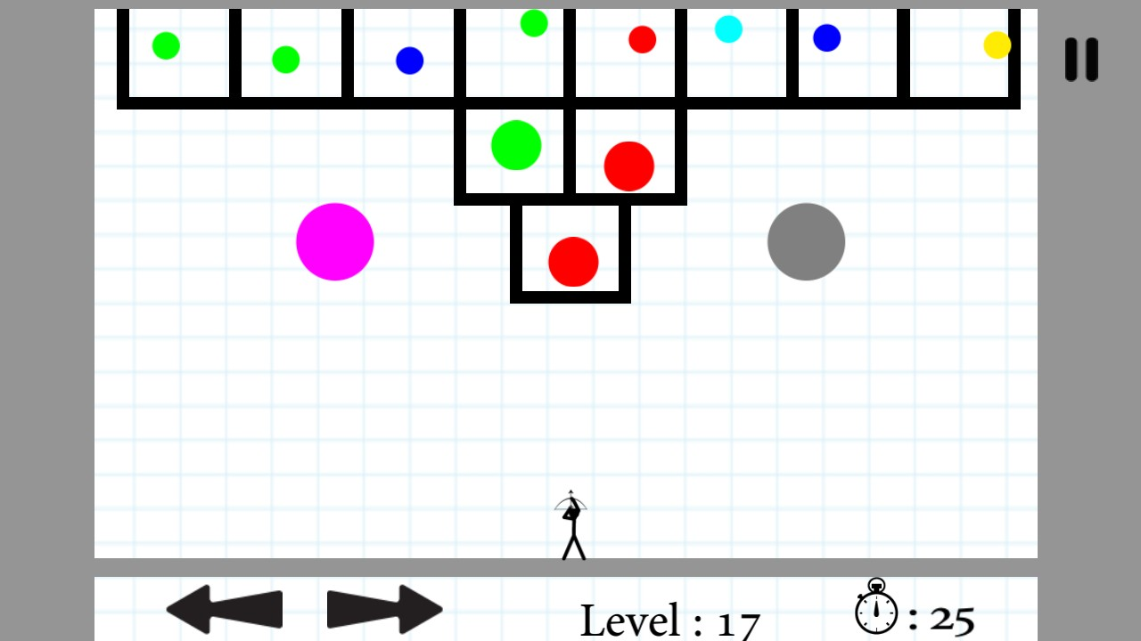 Super Pang Bubble 2D : Stickman Made With Unity