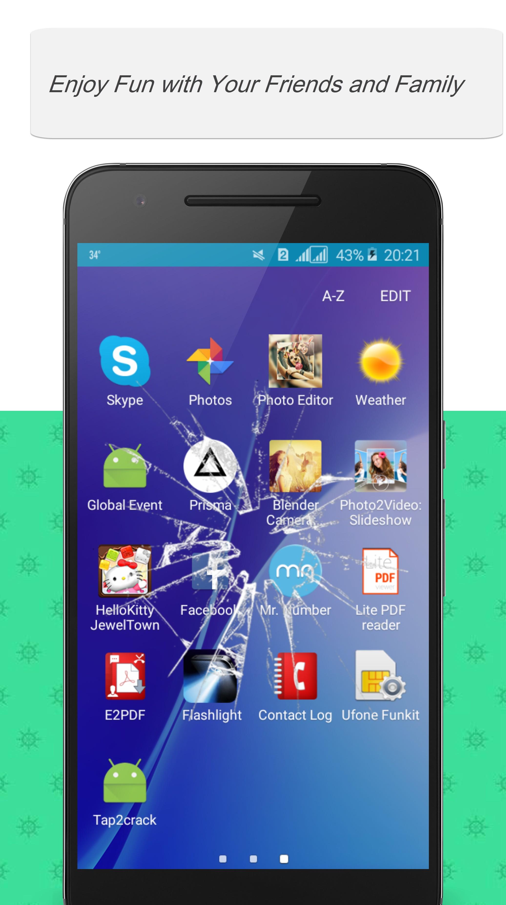 Tap2Crack Screen Prank