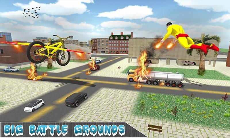 Flying SuperHeroes Bicycle Simulator