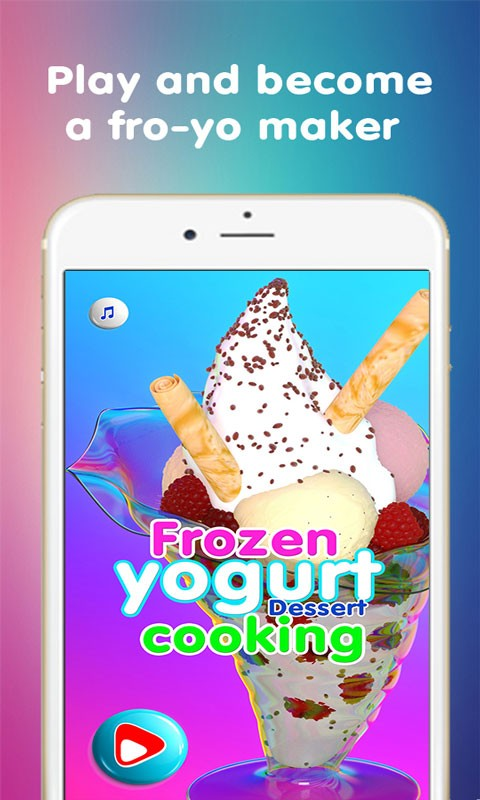 Frozen yogurt the cooking game