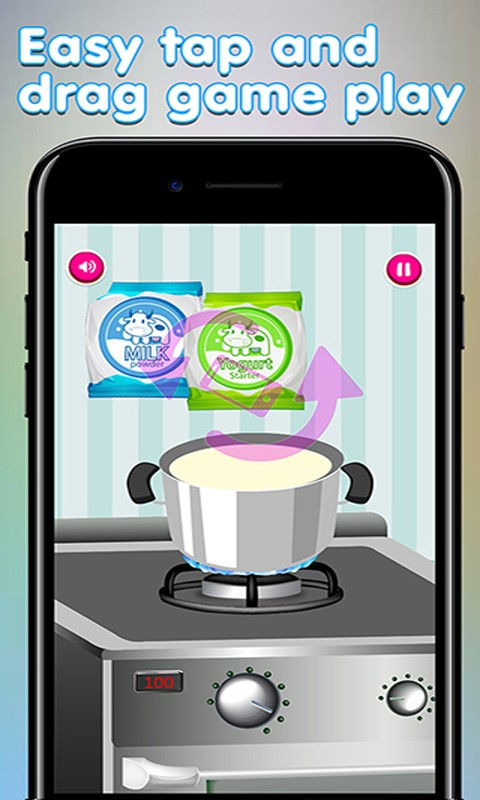 Frozen yogurt the cooking game