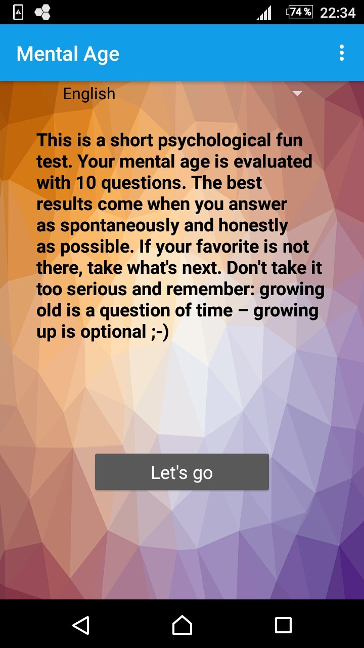 Mental Age Test