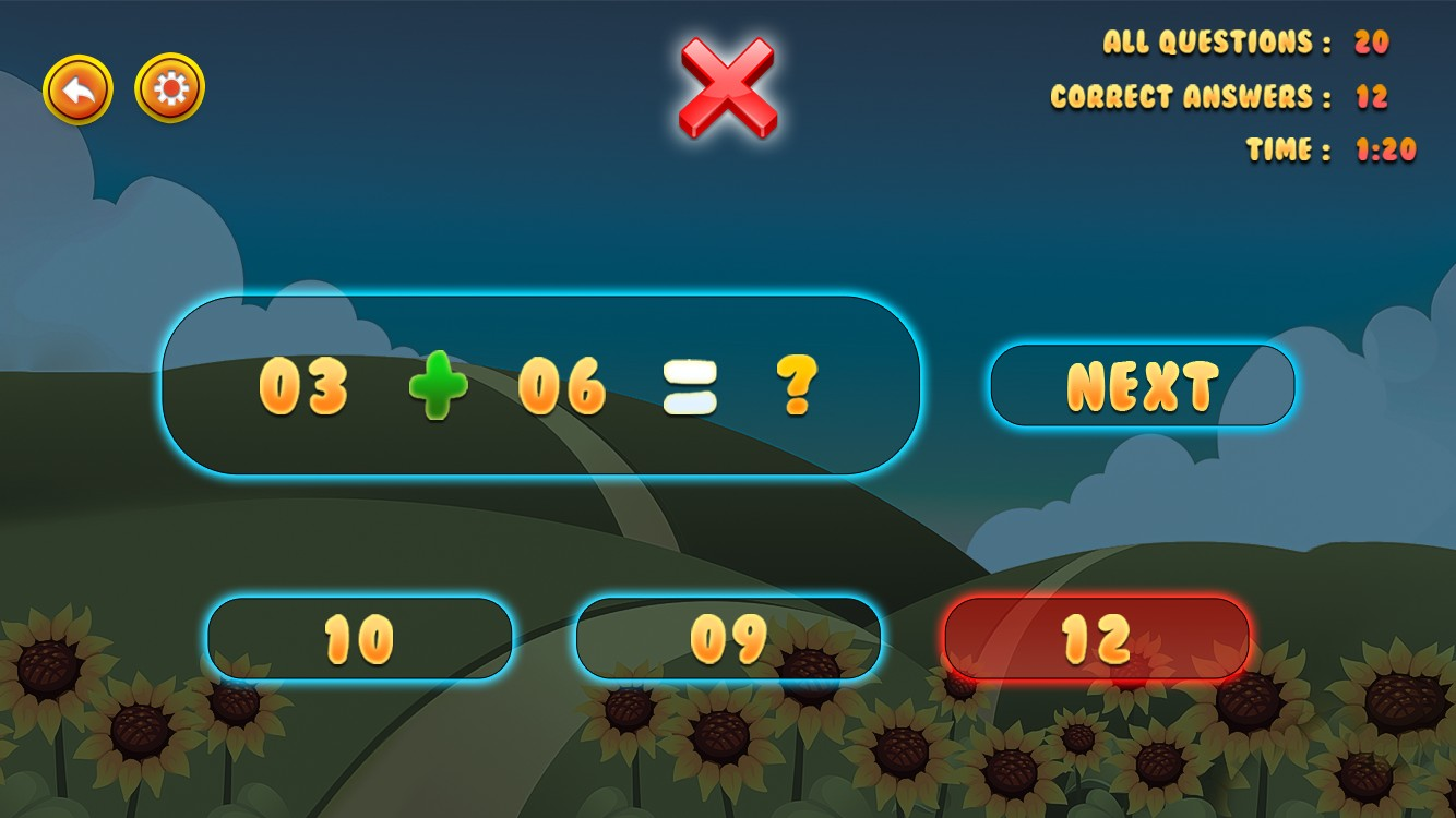 Preschool Kindergarten Math Learning Game